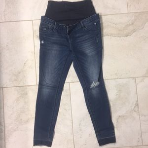 Maternity Blue Jeans by Old Nagy - Preowned
